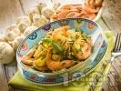 Рецепта Спагети с тиквички, босилеково песто и скариди